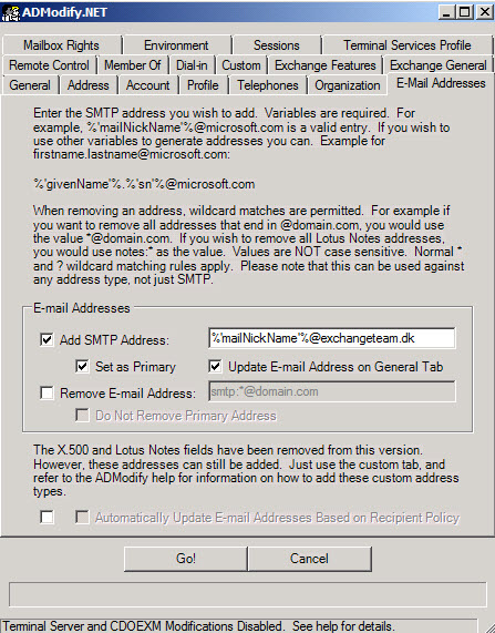 Change default email address in office 365