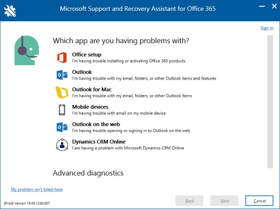 New office 365 diagnostic tool - Office 365 server settings outlook ...