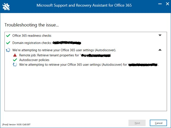 New Office 365 diagnostic tool