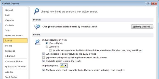 Outlook Online Search Limited to 250 Results with Exchange 2013