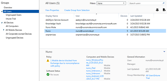Intune and Exchange ActiveSync (Part 8)
