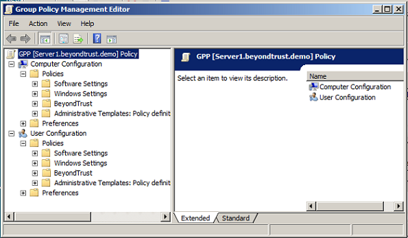 where is group policy management editor in server 2012
