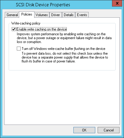 What effect will disabling write caching on my disk have?