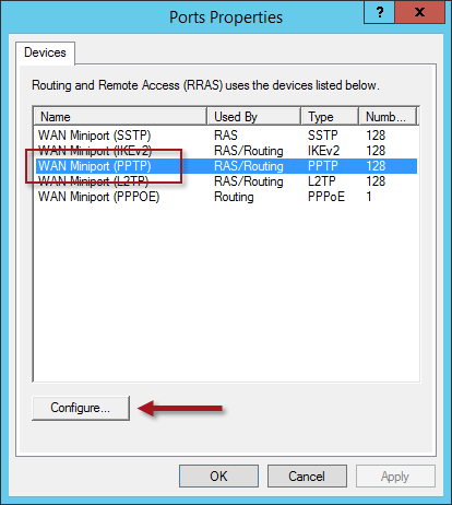Optimize VPN in Windows Server 2012 R2