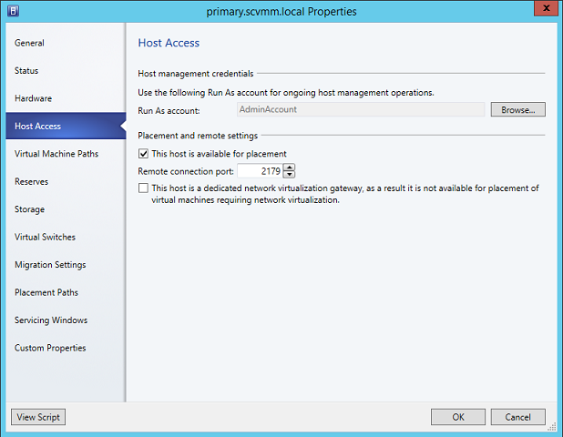 Taking a Close Look at Hyper-V Host Properties in SCVMM 2012