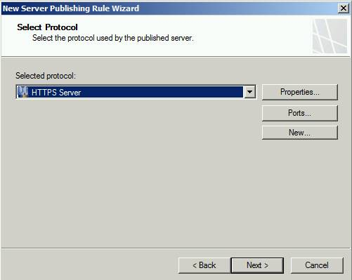 Figure 2: Protocol is HTTPS-Server