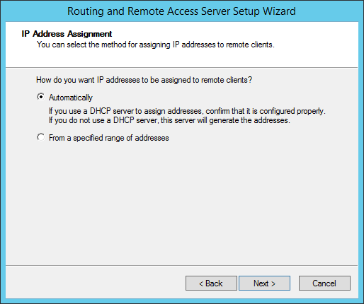 Configure VPN in Windows Server 2012 R2
