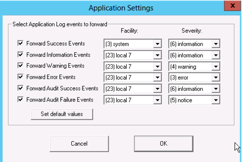 Configuring a Syslog Agent in Windows Server 2012