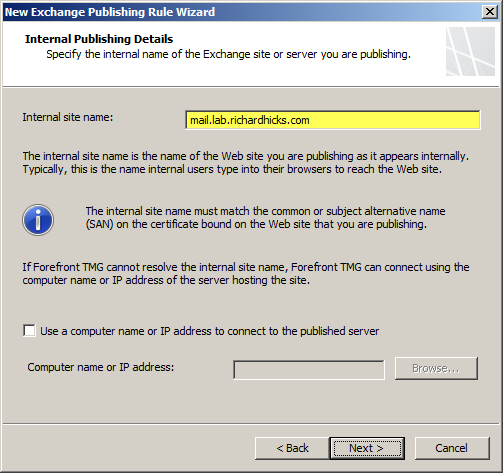 Publishing Exchange 2013 Outlook Web App with Forefront Threat