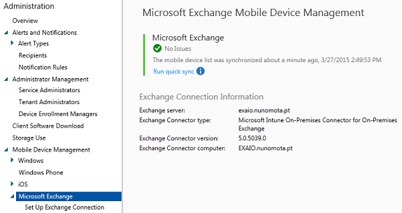 Intune and Exchange ActiveSync (Part 5)