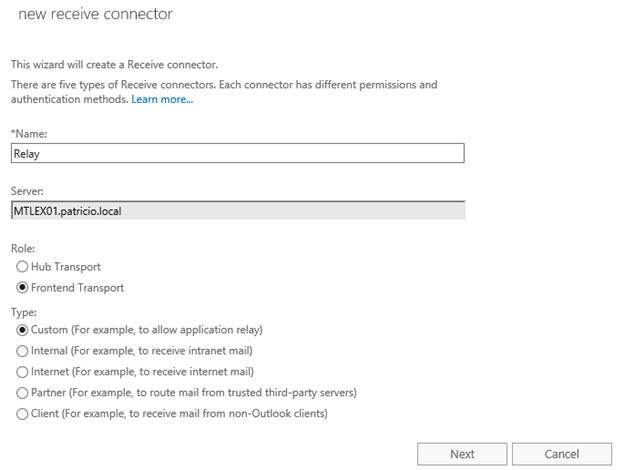 Mail Relay in Exchange Server 2016