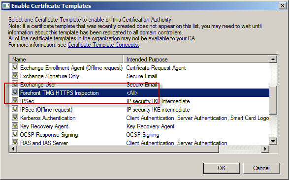 Implementing a cng https inspection certificate for forefront figure 10 yadclub Choice Image