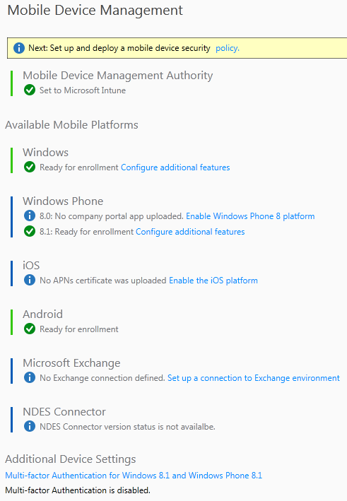 Intune and Exchange ActiveSync (Part 1)