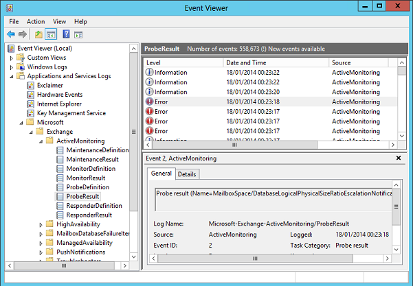Troubleshooting: Exchange environment with Event viewer ...