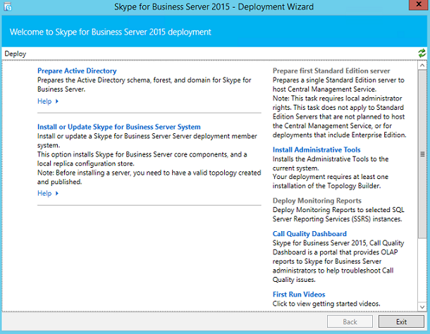 Deploying Skype for Business Server (Part 1) Preparing Active Directory