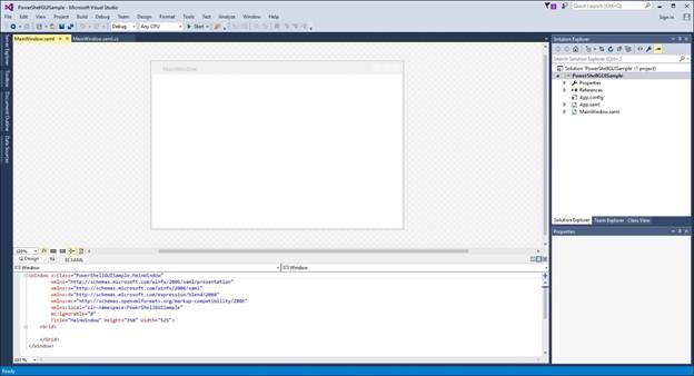 Figure B:This is the screen that is used for developing the project.